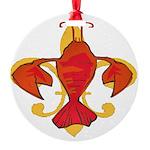 Fleurdecraw6atr Round Ornament