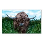 Scottish Highland Cow Pa Sticker (Rectangle 50 pk)