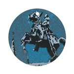 Jackson Horse Blue Ornament (Round)