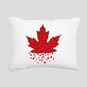 Red Maple Leaf Rectangular Canvas Pillow