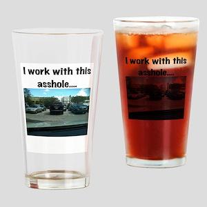 Parking asshole Drinking Glass