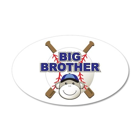 Big Brother Monkey 35x21 Oval Wall Decal