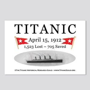 Titanic Ghost Ship (white) Postcards (Package of 8