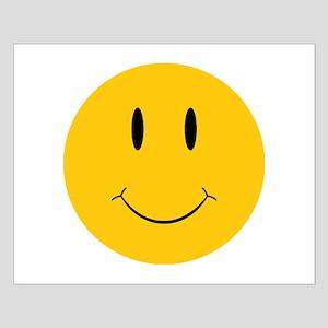 Happy Orange Face Small Poster