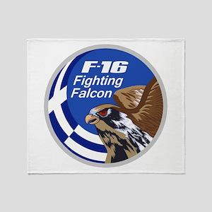 F-16 Falcon Throw Blanket