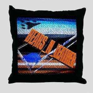 BEARS_N_LEATHER LOGO Throw Pillow