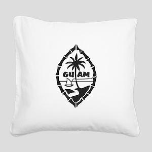 Guam Seal Square Canvas Pillow