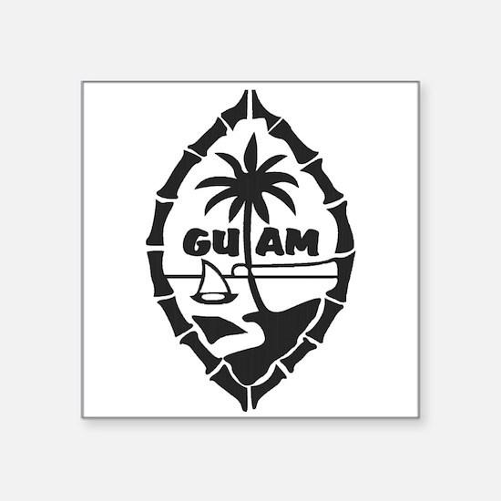 """Guam Seal Square Sticker 3"""" x 3"""""""