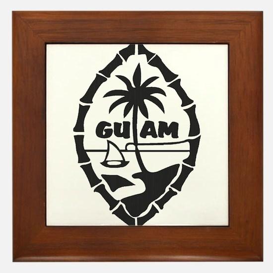 Guam Seal Framed Tile