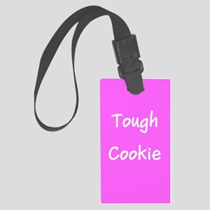 Pink Ribbon Breast Cancer Tough Cookie Luggage Tag
