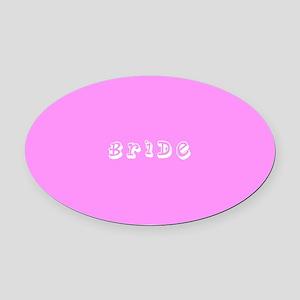 Pink Bride Designer Oval Car Magnet