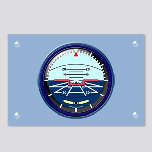 Artificial Horizon (blue) Postcards (Package of 8)