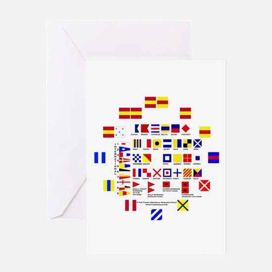 Nautical Flags Greeting Card