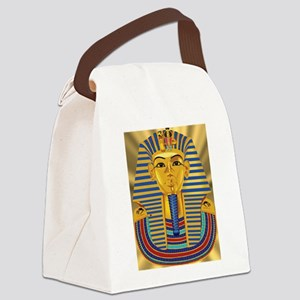 Tut Mask on Golden Rays Canvas Lunch Bag