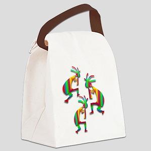 Three Kokopelli #25 Canvas Lunch Bag
