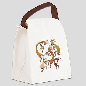 Five Wood Kokopelli Canvas Lunch Bag