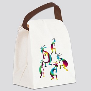 Wine and Blue Kokopelli Canvas Lunch Bag