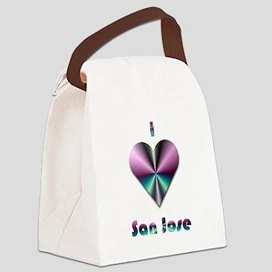 I Love San Jose #2 Canvas Lunch Bag