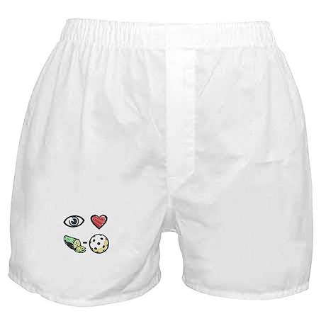I Love Pickleball Boxer Shorts