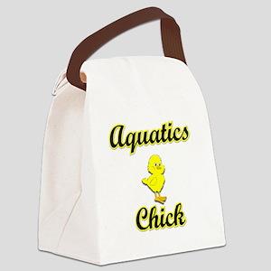 Aquatics Chick Canvas Lunch Bag