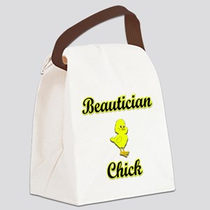 Beautician Chick Canvas Lunch Bag