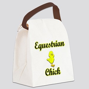 Equestrian Chick Canvas Lunch Bag