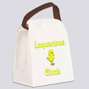 Loquacious Chick Canvas Lunch Bag