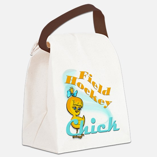 Field Hockey Chick #2 Canvas Lunch Bag