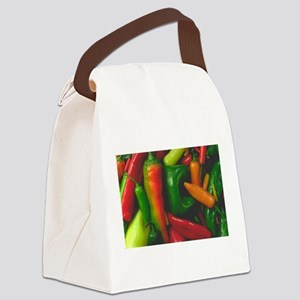 Hot Peppers Canvas Lunch Bag