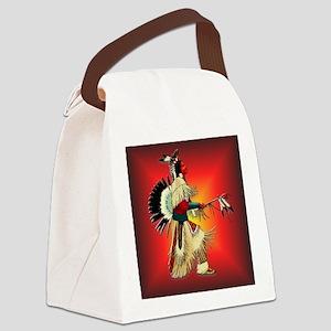 Native American Warrior #6 Canvas Lunch Bag