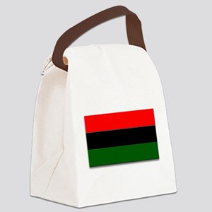 Red Black and Green Flag Canvas Lunch Bag