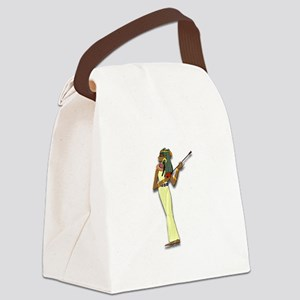 Egyptian Woman Musician Canvas Lunch Bag