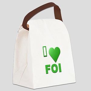 I Love FOI Canvas Lunch Bag