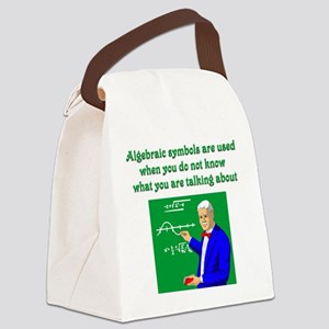 Algebraic Symbols Canvas Lunch Bag