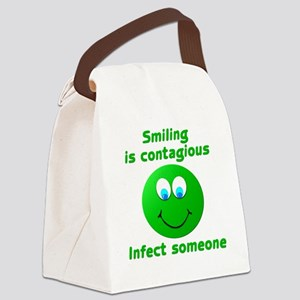 Smiling is contagious #3 Canvas Lunch Bag