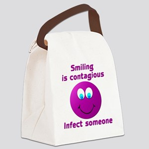 Smiling is contagious #5 Canvas Lunch Bag
