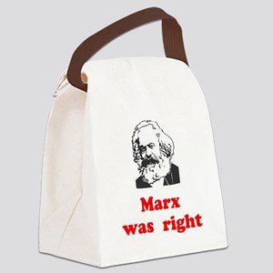 Marx was right #3 Canvas Lunch Bag