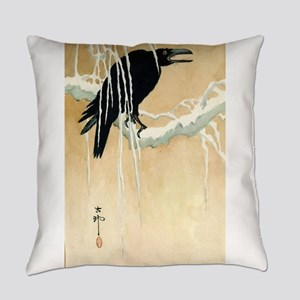 Blackbird In Snow - Koson Ikeda - 1867 - woodcut E