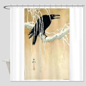 Blackbird In Snow - Koson Ikeda - 1867 - woodcut S
