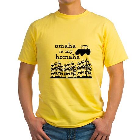 Omaha is My Homaha Yellow T-Shirt