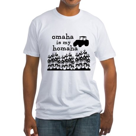 Omaha is My Homaha Fitted T-Shirt