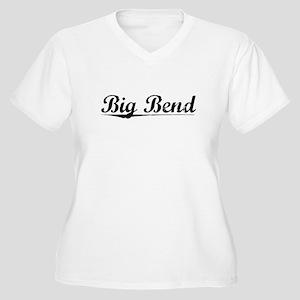 Big Bend, Vintage Women's Plus Size V-Neck T-Shirt