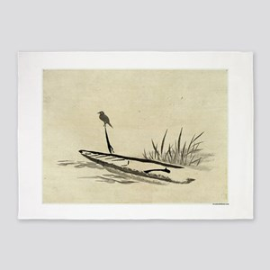 Bird And Boat Among Reeds - anon - 1870 - woodcut