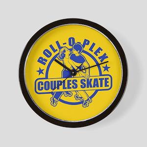 Couples Skate Wall Clock