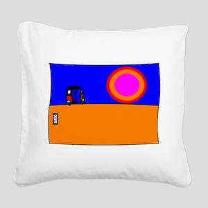 TUK TUK SUNSET Square Canvas Pillow