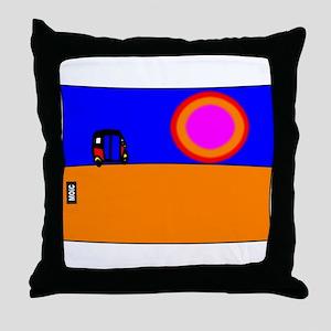 TUK TUK SUNSET Throw Pillow
