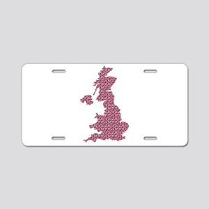 Map of England in Union Jack Pattern Aluminum Lice
