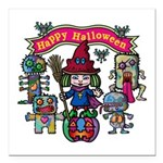 Happy Halloween Square Car Magnet 3