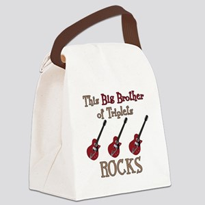 Big Bro Rocks Triplets Canvas Lunch Bag