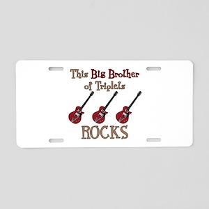 Big Bro Rocks Triplets Aluminum License Plate